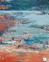 Ambiance océane 8 Mixte sur toile 38x46cm 2017
