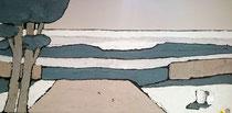 Entrée sur la côte d'Argent Enduit acrylique sur toile 50x100cm 2018