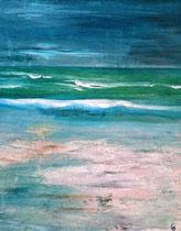 Ambiance océane 1 Acrylique sur toile 38x46cm 2017