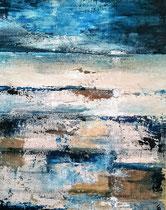 Ambiance océane 4 Acrylique sur toile 38x46cm 2017