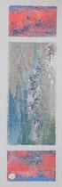 Composition océane 3 Mixte sur toile 18x50cm 2017