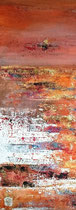 Crépuscule doré Mixte sur toile 28x70 2017