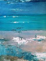Ambiance océane 3 Acrylique sur toile 38x46cm 2017