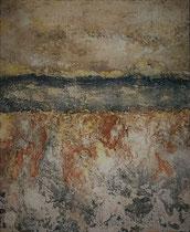 Côte espagnole Mixte sur toile 38x46cm 2017