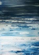 Ambiance Océane 4 Enduit acrylique sur toile 50x70cm 2018