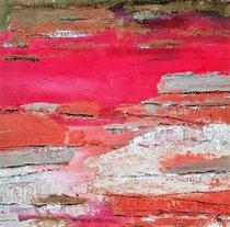 Horizon Flamboyant 7 Acrylique sur toile 50x50cm 2017