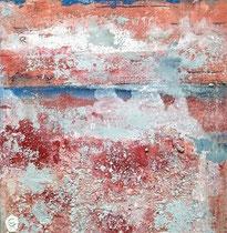 Ambiance océane 15 Mixte sur toile 50x50cm 2017