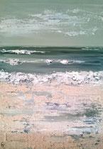 Ambiance océane 7 Mixte sur toile 38x46cm 2017
