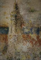 A l'assaut du phare 3 Mixte sur toile 38x46cm 2017