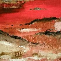 Horizon Flamboyant 6 Acrylique sur toile 50x50cm 2017