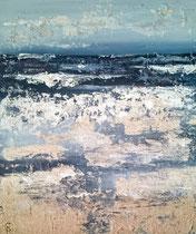 Ambiance océane 6 Mixte sur toile 38x46cm 2017