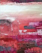 Rouille 1-2 Diptyque Mixte sur toile 50x60 2017
