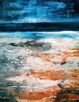 Ambiance océane 5 Acrylique sur toile 38x46cm 2017