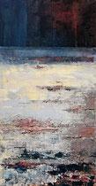 Ambiance océane 9 Mixte sur toile 50x100cm 2017