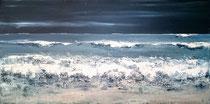 Ambiance océane 17 Mixte sur toile 50x100cm 2017
