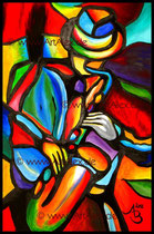 """""""Der Saxophonist""""   40x60 cm // April 2012"""