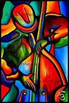 """""""Der Bassist""""   40x60 cm // April 2012"""