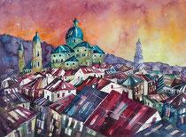 Salzburg Blick vom hohen Weg  50 x 65