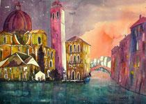 Venedig San Geremia  56 x 76
