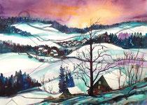 Winterlanschaft im Emmental 1   56 x 76
