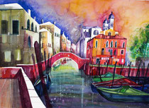 Aquarell Venedig San Nicolo