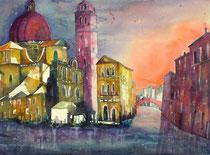 Venedig Aquarell Cannareggio   56 x 76