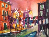 Venedig Wäschetag   50 x 65