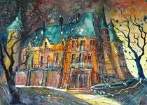 Aquarell Schloss Schadau  56 x 76