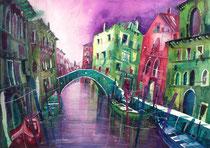 Venedig Rio di San Giovanni laterano 2   56 x 76