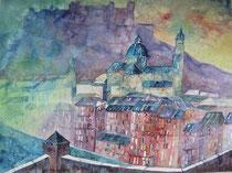 Salzburg Blick vom Kapuzinerberg 56 x 76