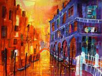 Venedig Rio di San Maddalena  46 x 65