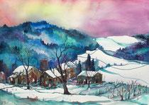 Winterlandschaft im Worbletal 2  56 x 76