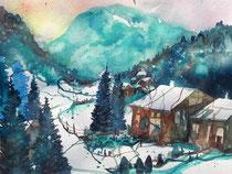 Winter im Berner Oberland   50 x 65