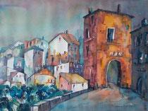 Blick auf Montepulciano 46 x 61