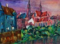 Basel Blick zum Münster   56 x 76