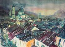 Salzburg  Stadtansicht   45.5 x 61