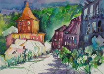 Bern Felsenburg am Morgen  56 x 76
