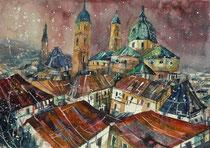 Blick auf den Salzburger Dom  40 x 50