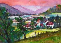 Vechigen Landschaft  mit Kiche   56 x 76