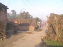 村の朝の風景