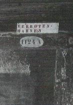 """Detail mit austro-ungarischem """"Harnen""""-Verbot"""