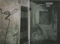 "aus Harald Naegeli, ""Der Sprayer in Venedig"" 1991 Ed.Staeck, Verlag Steidl. Links Spraybild Naegelis"