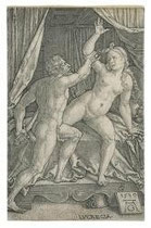 Heinrich Aldegrever (1502-1555), Tarquin und Lukrezia 1539 Kupferstich