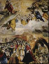 El Greco, sog. Anbetung des Namens Jesu, Escorial Öl/Lw.140x110cm