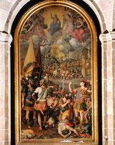 Romulo Cincinnato(1502-1593), Martyrium des Mauritius, Escorial 1584-85, Öl/Lw.510x280cm