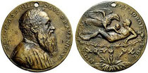 "Rangone-Medaille 1560  ""A Jove et sorore genita"" : Hebe? Adoptionsmythos Herkules?"