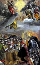 El Greco, sog. Anbetung d.Namens Jesu, London, Nat.Gallery, Öl/Holz, 58x35cm