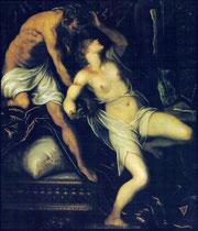 Jacopo Tintoretto, Tarquin und Lukrezia II, Zürich (verschollen)