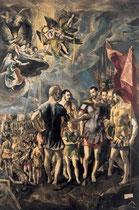 El Greco Mauritius-Martyrium, Escorial 1580-82 Öl/Lw.448x301cm