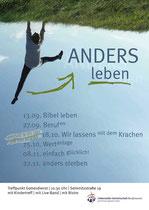 Ehrenamtliche Arbeit für die Gottesdienste der Liebenzeller Gemeinschaft: Plakat, Handzettel, Folienhintergründe für Beamerpräsentationen